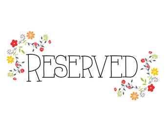 RESERVED Listing for dprovence