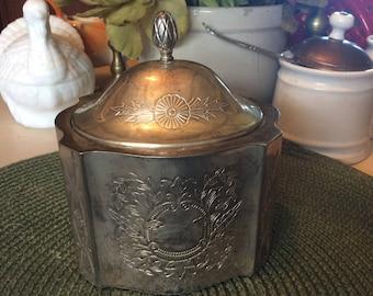 Jewelry Box, Vintage , Silverplate