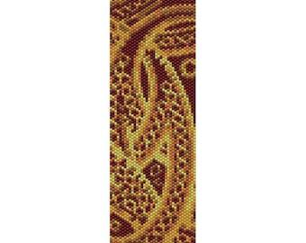 Abstract 10 Peyote Bead Pattern, Bracelet Cuff Pattern, Bookmark, Seed Beading Pattern Miyuki Delica Size 11 Beads - PDF Instant Download