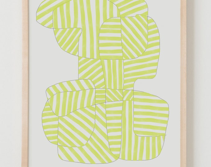Fine Art Print.  Stripe Study Lemon, August 16, 2017.