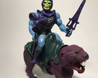 Sold Skeletor and Panthor MOTU  Masters of the universe He-man