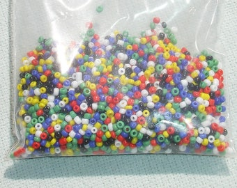 Multi-Colored Seed Beads Lot - Jewelry Making Supply - 15/0