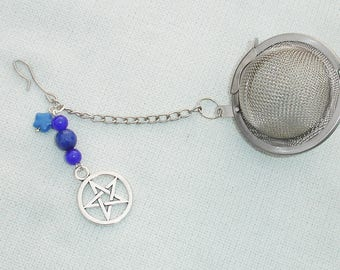 Pentagram and Gemstone Tea Strainer - Infuser