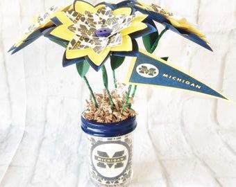 University of Michigan Paper Flower Bouquet