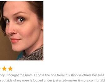 Faux Nose Hoop -Fake Nose Ring-Fake Piercing-Nose Ring-Nose Hoop-Fake Nose Hoop-Fake Nose Piercing-Faux Nose Ring-Silver Nose Ring