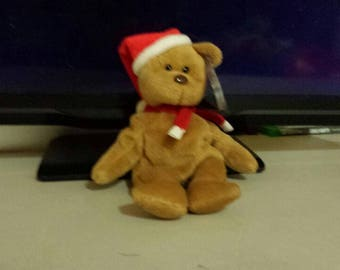 Beanie Baby Holiday Teddy Bear with Tag Errors and pvc pellets