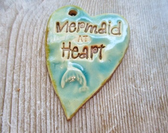 Mermaid at Heart Ceramic Pendant