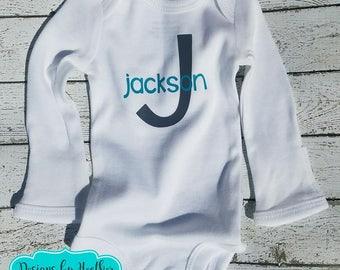 Preemie Personalized Bodysuit - Personalized Bodysuit - Preemie Baby -
