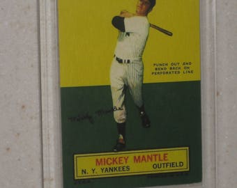 1964 Topps stand up mickey mantle card in screwdown case
