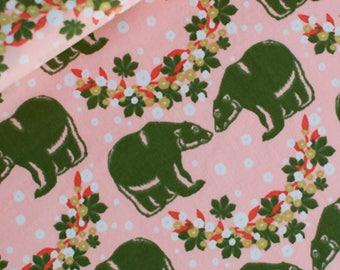 Bears (Pink) - European Fabric - 100% Soft Cotton - 1 Yard