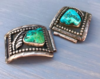 Vintage Silver Turquoise Watch Band Southwestern Native American Watch Jewelry