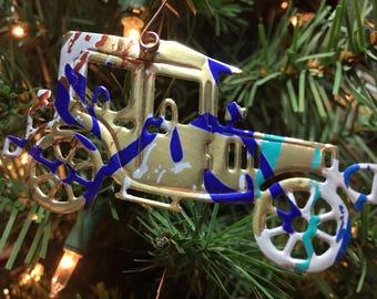 Aluminum Car Die Cut Ornaments-Embellishment-Scrapbook-Ornament Exchange-Upcyled Soda Can