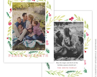 Christmas 5x7 Photo Card - Instant download - e1512