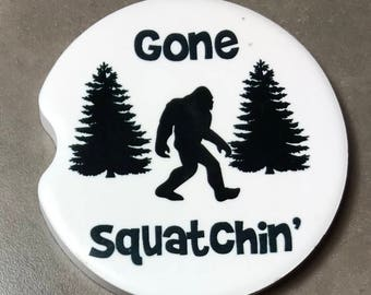 Car Coasters Cup Holder Coasters Custom Coasters Sasquatch  Sandstone Coaster