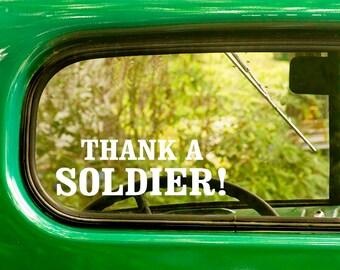 2 Thank a Soldier Decals, Veteran Decal, Thank You Veterans, Veteran Sticker, Patriotic , Car Decal, Laptop Sticker, Bulk Decals, Wholesale