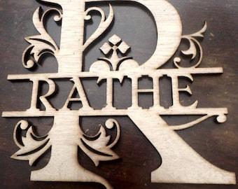 fancy letter monogram/ custom cutout/ LARGE