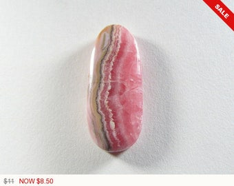 Pink Rhodochrosite Cabochon, designer cabochon, gemstone cabochons, flat back cabochons, natural stone cabochons, bacon pattern (rh62061)