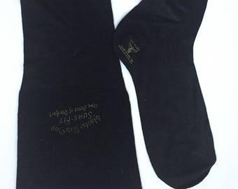 Unworn 1920s 1930s black stockings LARGE