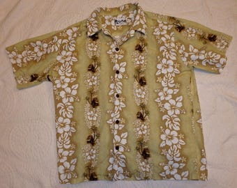 Hawaiian Shirt By Howie Men's Size XL