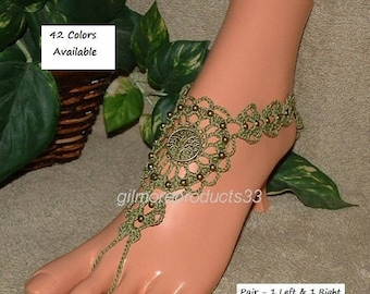TREE of LIFE Barefoot Sandals Women's Anklet Bracelet SIZED Toe to Ankle Bracelet Slave Anklets Legwear Ring Tree Sandal Body Jewelry