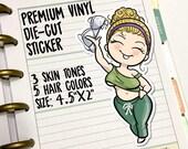 Braless No Bra VINYL DECAL Weekend Friday Girl Die-Cut for Travelers Notebooks - Free The Nipple , Miss Moss Stickers