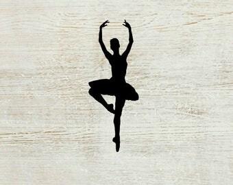Ballerina Vinyl Decal   Ballet Decal   Ballerina Car Decal   Laptop Decal   Car Decal   Notebook Decal   Ballerina Gifts   Dance Decal