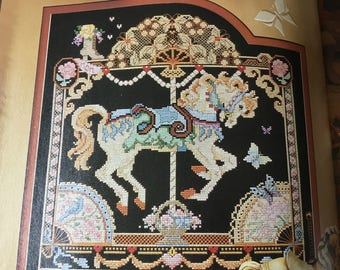 CAROUSEL HORSE - MAY - Cross Stitch Pattern Only