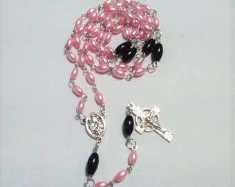 glass bead rosary catholic Catholicism prayer beads christian