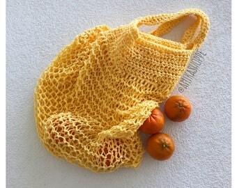 Market Bag - 4 color options - reusable eco friendly tote bag - mesh shopping bag - market tote bag - reusable grocery bag