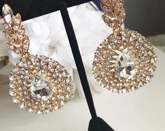 Crystal Earrings, Clear Crystal Earrings