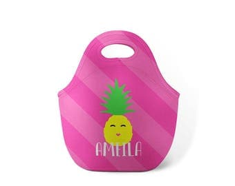 Personalized Lunch Tote - Pineapple Friend - Custom Lunch tote for Children