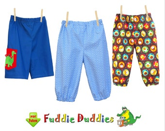 Quick and Easy Boys Pants Pattern. Baby Pants Pattern. Infant Pants Pattern, Boys Sewing Pattern. Infant Sewing Pattern. pdf Pattern Sammy