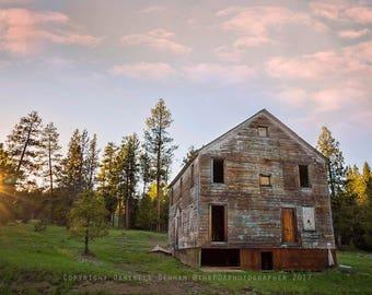 Oregon Photograph | Abandoned Building | Ochoco Mountains | Abandoned Oregon | Four Horsemen Hotel | Rural Oregon | Eastern Oregon
