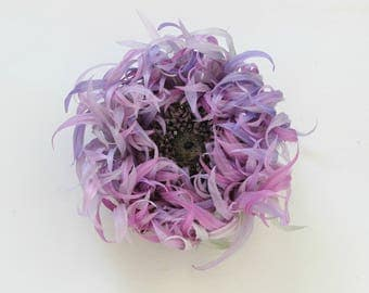 SAMPLE SALE pink and purple flower brooch, pink and purple silk chrysanthemum, fabric chrysanthemum, evening flower brooch, fall jewelry
