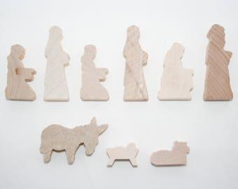 wooden natvity scene natvity set nativity figurines wooden nativity set baby jesus - Wooden Nativity Set