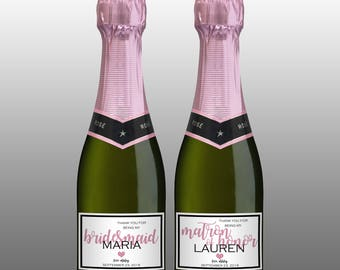 Mini champagne bottle label etsy for Etsy mini wine bottle labels