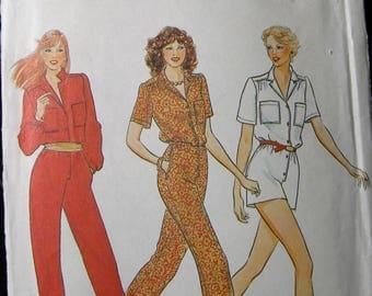 Vintage Butterick 4218 Jumpsuit or Romper Pattern Uncut Sz 6