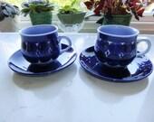 Vintage Set of two tea cups and saucers - Matilda by Gustavsberg Studio - Lisa Larson design