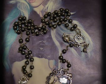 Chaplet Rosary Alice in Wonderland silver MC Ink