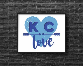 Kansas City Love, Blue Arrows, Print