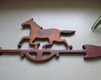 Running Horse Weathervane Wood