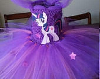 Twilight Sparkle or any Color My Little Pony Costume Flower Girl Tutu Dress