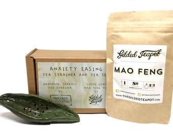 Ceramic Tea Strainer Gift Set