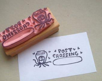"""Stempel """"Postcrossing""""  Oktopus"""