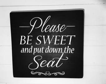 Put The Seat Down Etsy