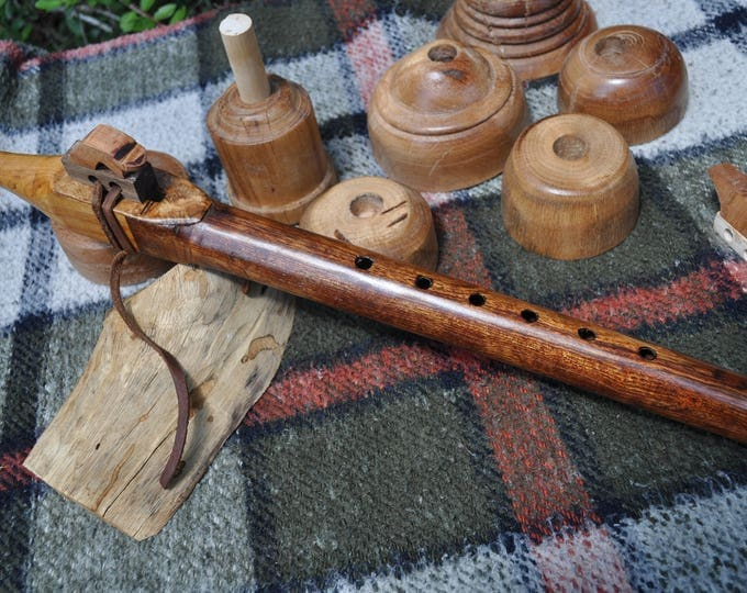 Native American Style Flute A scale Caribbean  Rosewood by Crazy Bear