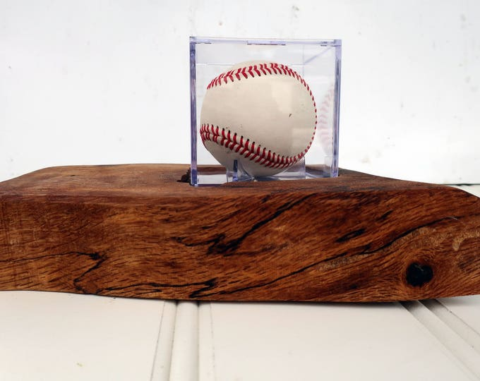 Baseball signature  stand with ball and base