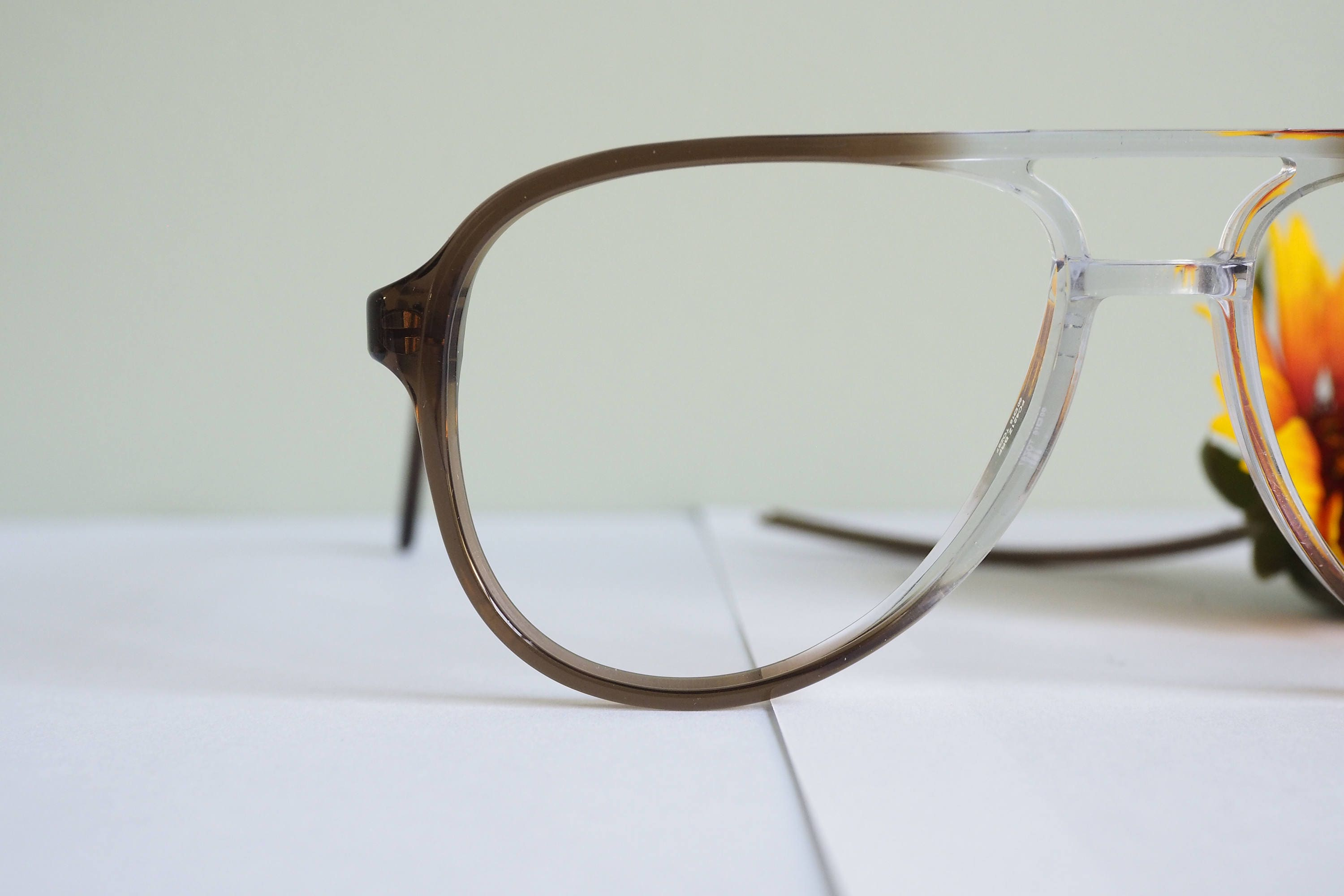 Vintage 1970\'s Aviators By Titmus Brown And Clear Tone Frames New ...