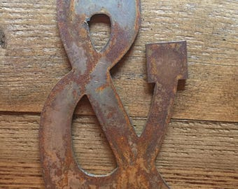 """Ampersand - 12"""" Large RUSTY, RUSTIC & Symbol - Make your own Sign, Gift, Art!"""