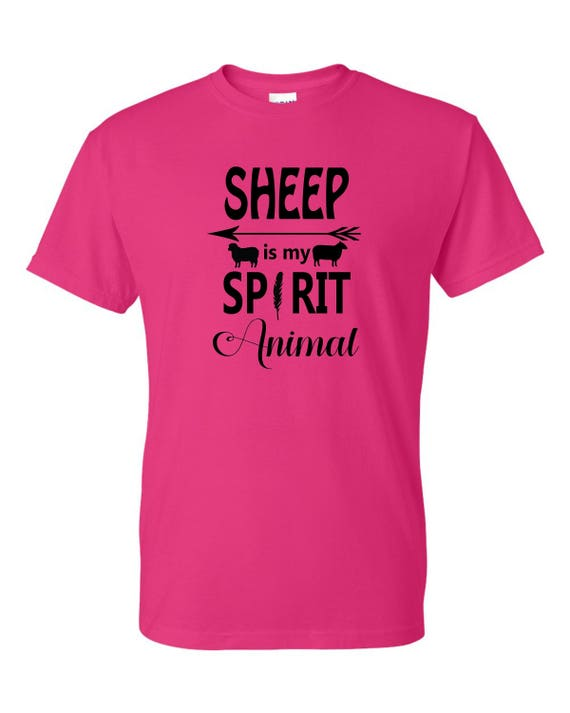 Sheep is my Spirt Animal funny t-shirt, Gift for Fathers day, Mother's Day GiftChristmas gift  Sheep lovers, t shirt with saying